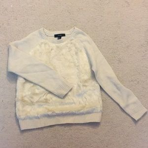 Forever 21 Sweater with Fluffy Front